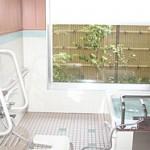 浴室(坪庭が見える浴室)